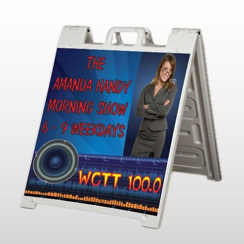 Amp Morning Show 439 A Frame Sign