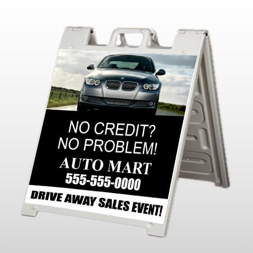Auto Mart 114 A Frame Sign
