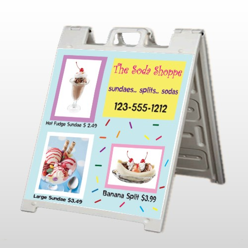 Ice Cream 374 A Frame Sign