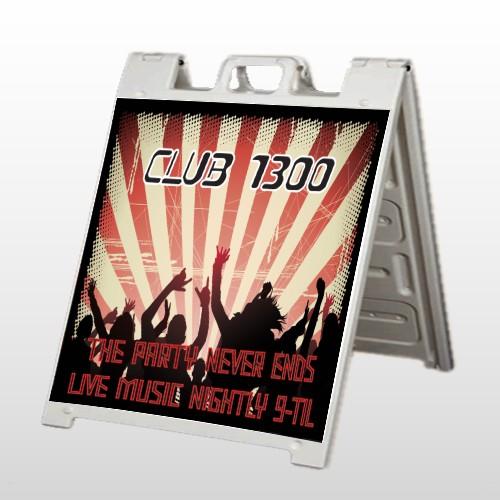 Night Club 523 A Frame Sign