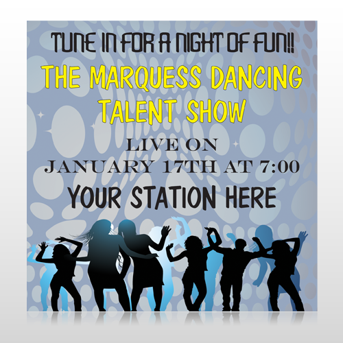 Talent Show 440 Custom Sign