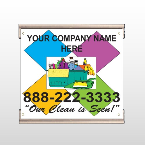 Cleaning Supplies 451 Track Banner