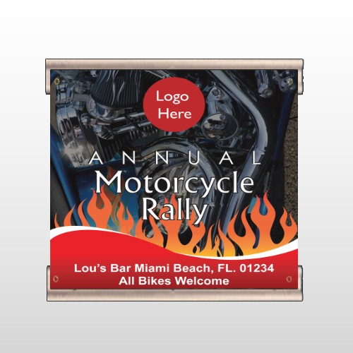 Motorcycle Flame 107  Track Banner