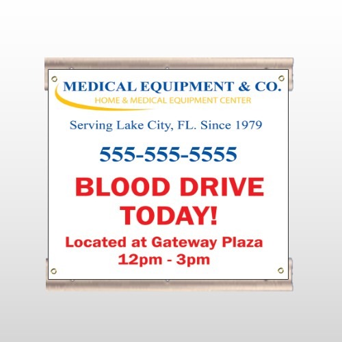 Blood Drive 97 Track Sign
