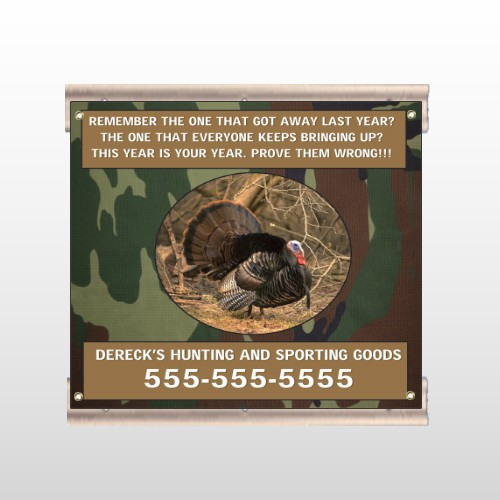 Hunt Turkey 409 Track Sign