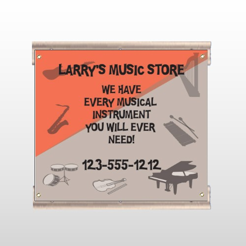 Larry Music Store 372 Track Sign