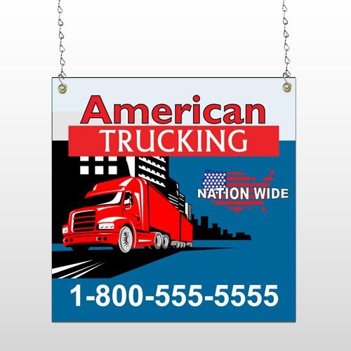 American Truck 295 Window Sign
