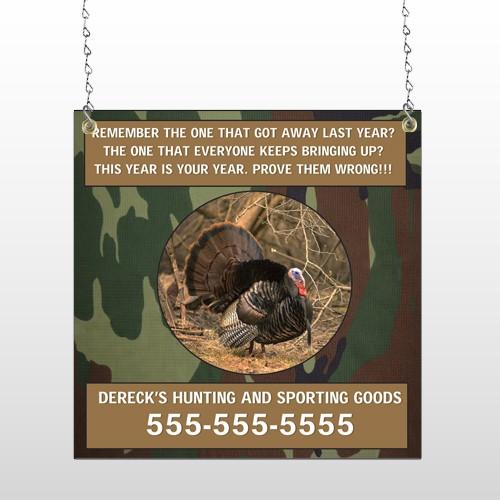 Hunt Turkey 409 Window Sign