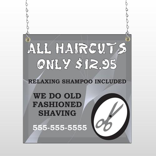 Scissor Cut 286 Window Sign