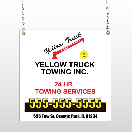 Towing 125 Window Sign