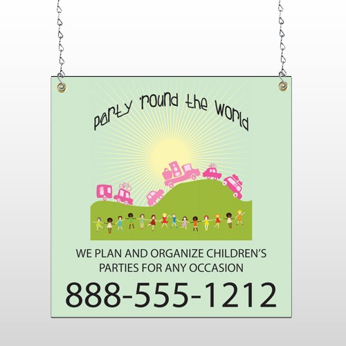 World Party Plan 520 Window Sign