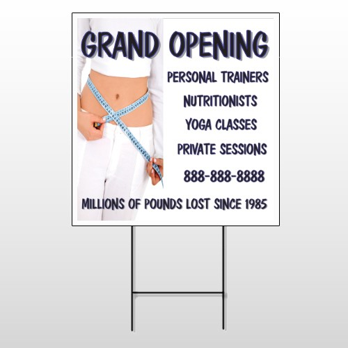 Middriff Measure 405 Wire Frame Sign