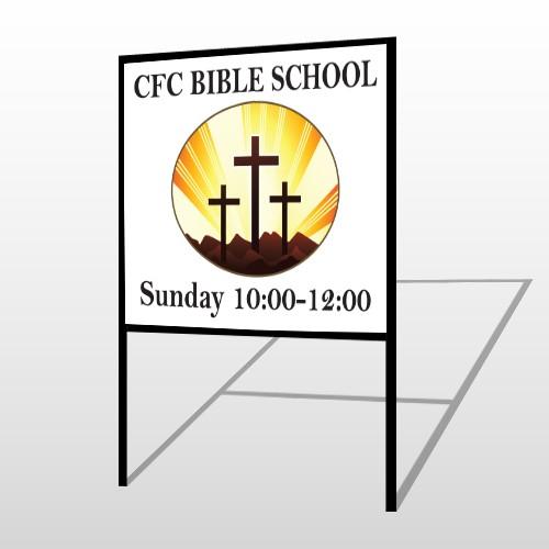 3 Crosses 149 H-Frame Sign