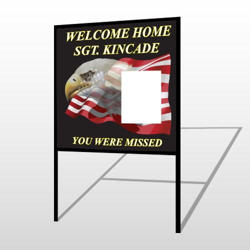 Eagle Flag 307 H Frame Sign