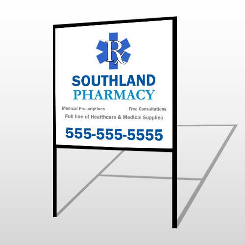 Pharmacy 103 H-Frame Sign