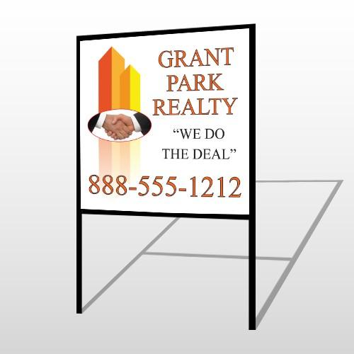 Real Handshake 365 H Frame Sign