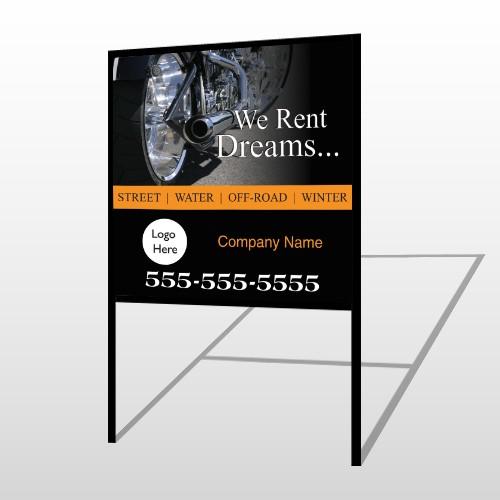 Rent Dreams 109 H Frame Sign