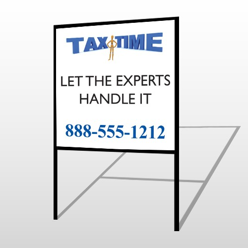 Tax Time 171 H Frame Sign