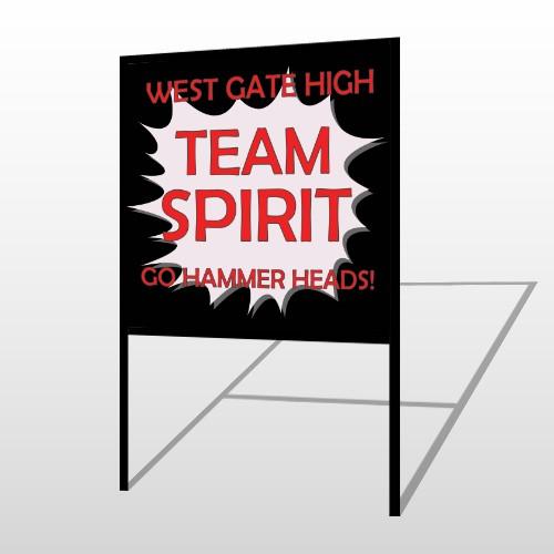 Team 43 H Frame Sign