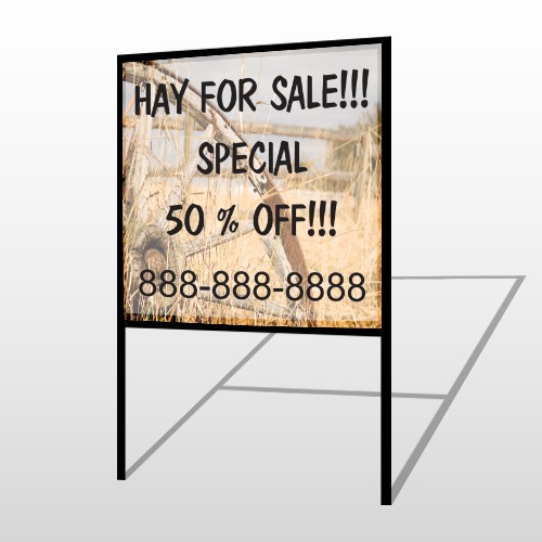 Wood Wheel 413 H-Frame Sign