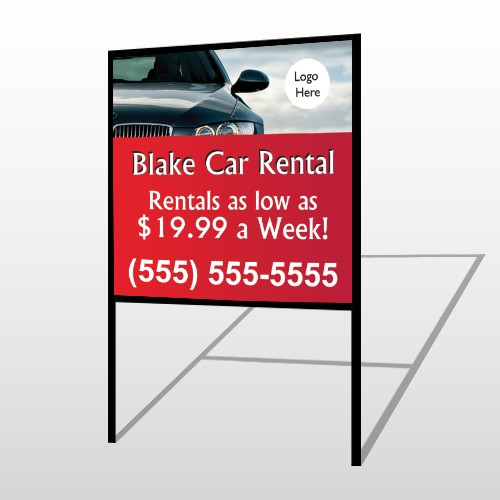 Car Rental 112 H Frame Sign