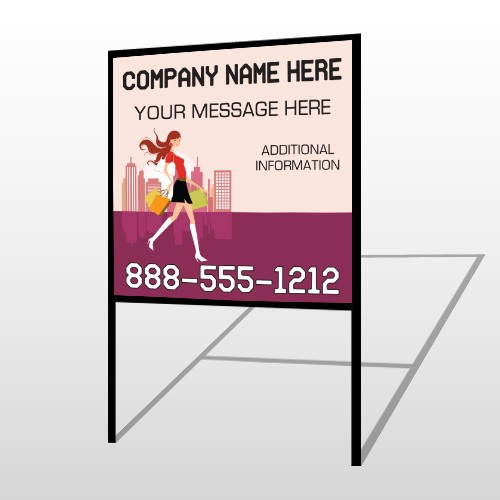 Fashion Shopping 179 H Frame Sign