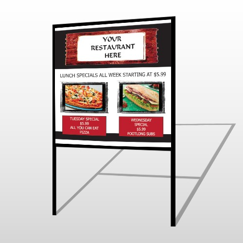 Restaurant Specials 370 H Frame Sign