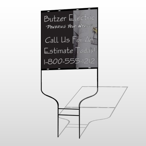 Black And Book 217 Round Rod Sign
