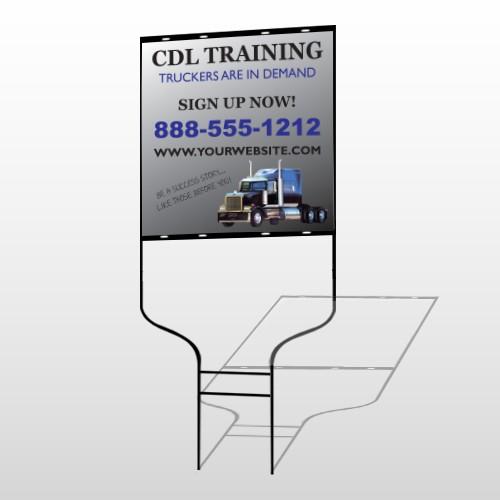 CDL Training 155 Round Rod Sign