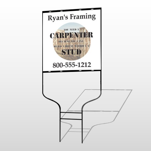 Framing 240 Round Rod Sign