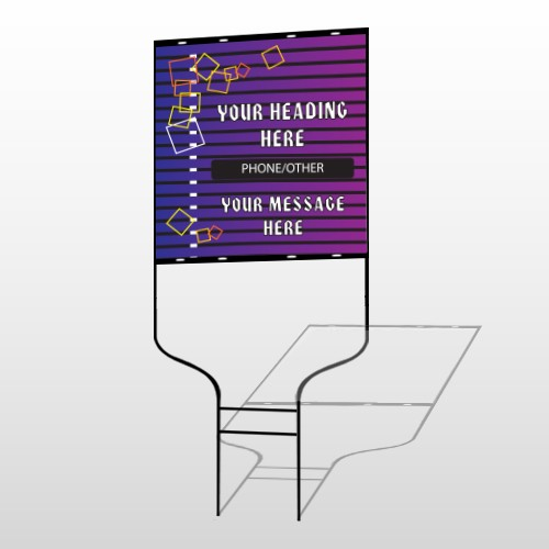 Purple Stripes 142 Round Rod Sign