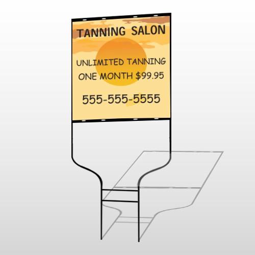 Tanning Sun 296 Round Rod Sign