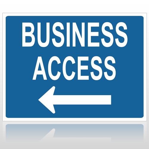 Bus Access 10060 Parking Lot Sign