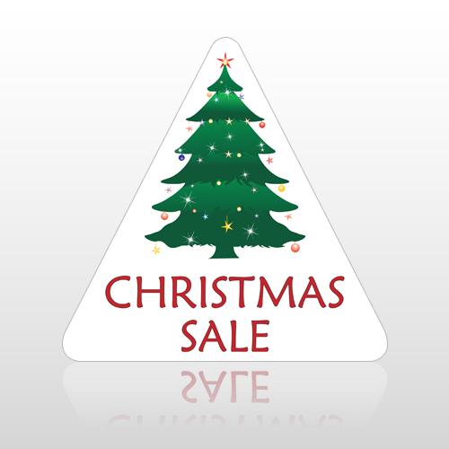 Sale 698 Floor Decal Triangle