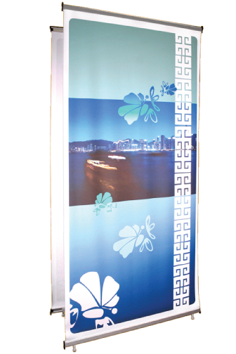 "Telescopic 3 Kit- Stand & Anti-Curl Banner 39""W x 89""H"