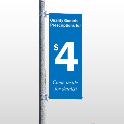 Pharmacy 102 Pole Banner