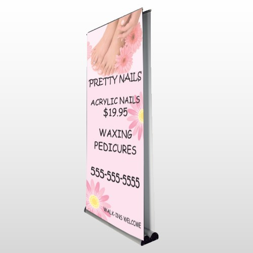 Nail Salon 291 Retractable Banner Stand