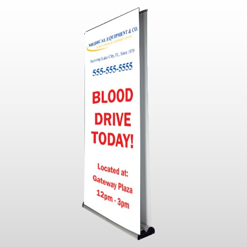 Blood Drive 97 Retractable Banner Stand