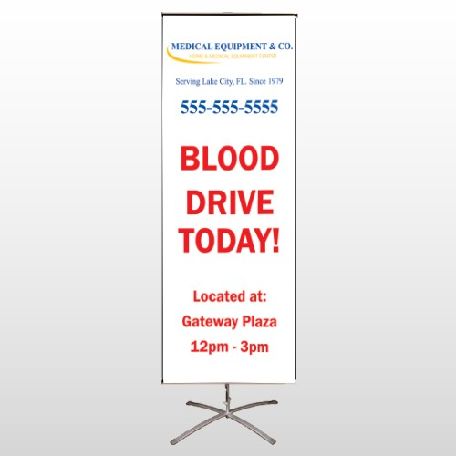 Blood Drive 97 Center Pole Banner Stand