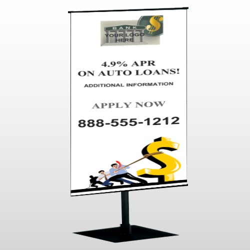 Auto Loan 173 Center Pole Banner Stand
