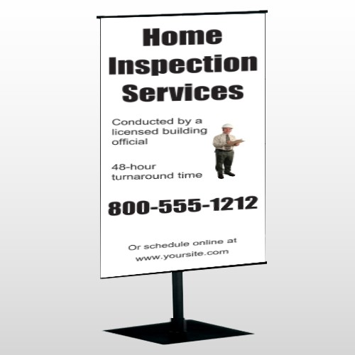 Home Inspection 360 Center Pole Banner Stand