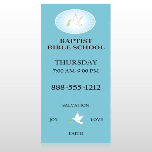 Bible Dove 162 Custom Decal