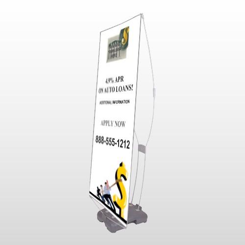 Auto Loan 173 Exterior Flex Banner Stand