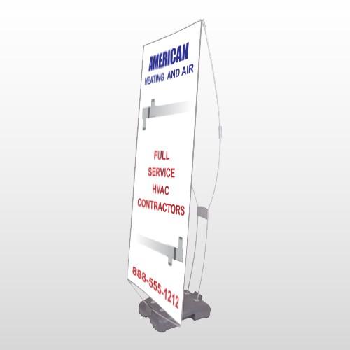 Construction 252 Exterior Flex Banner Stand