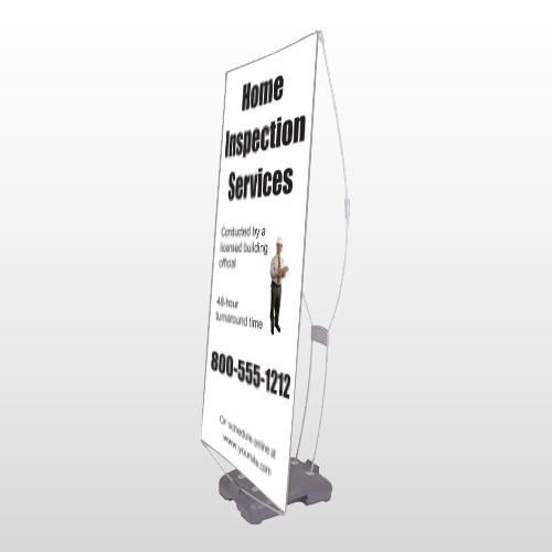 Home Inspection 360 Exterior Flex Banner Stand