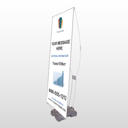 Mortgage 177 Exterior Flag Banner Stand
