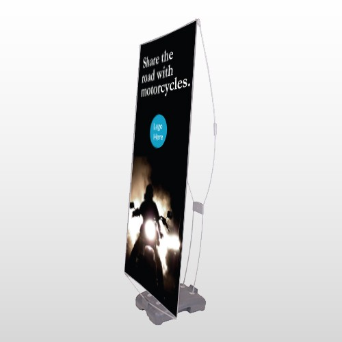 Motorcycle 106 Exterior Flex Banner Stand
