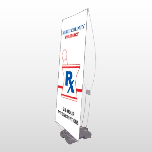 Pharmacy 101 Exterior Flex Banner Stand