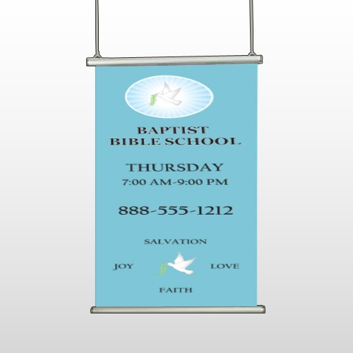 Bible Dove 162 Hanging Banner