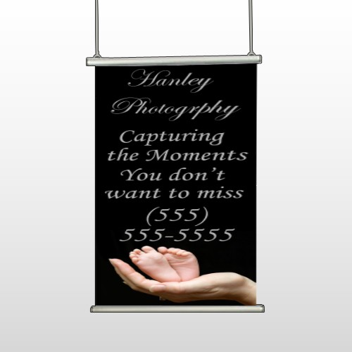 Flower 49 Hanging Banner Stand